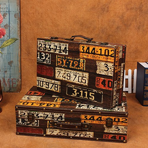 XBR Maleta antigua, retro Maleta, maleta retro y viejo caso Photography prop,1306 maletas dos piezas
