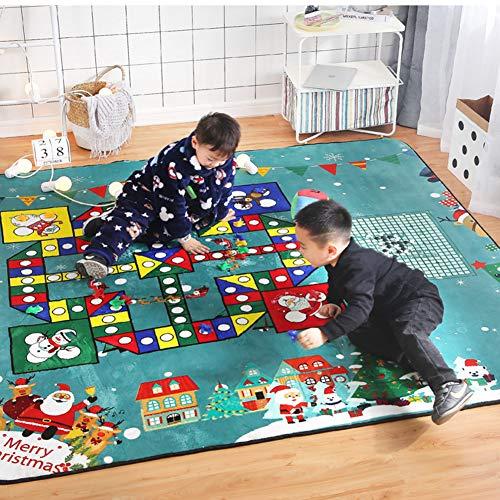Board Games, De Baby Game Mat 190X195CM Flying Chess Game Mat 1,5 Cm Dikte Met Een Doek Dice Mat Anti-Slip Baby Play Mat