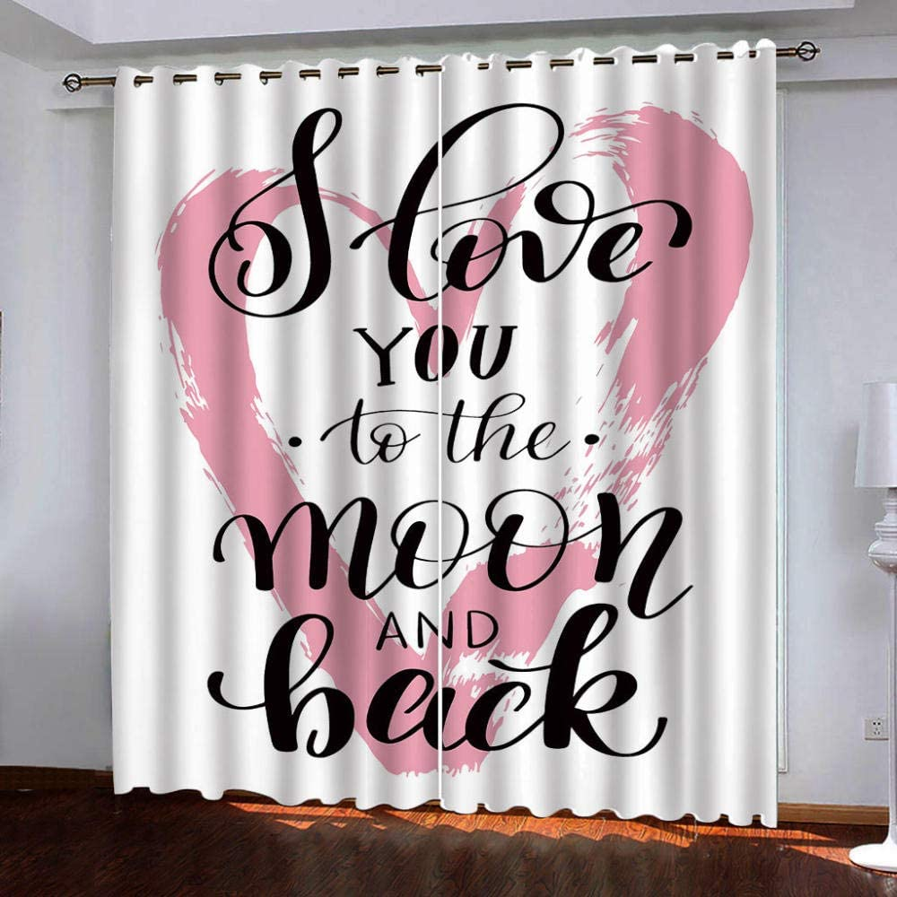 Eyelet Blackout Quality inspection excellence Thermal Insulated Curtains, Love Patte Pink