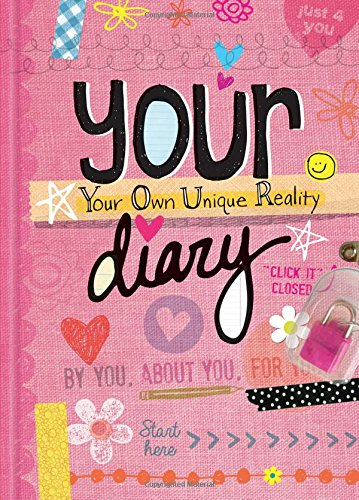 Your Diary - Sparkly Lock & Keys - Girls 7+ Journal Fun - Illustrated and Activities