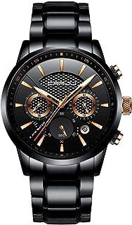 CRRJU Brand Men's Business Casual Chronograph Quartz...