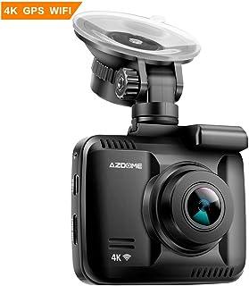 Cámara de Coche 4K 2160P con WIFI y GPS Dashcam Grabadora Ultra HD Dash Cam de Gran Ángulo 170° con G-sensorModo de EstacionamientoDetección de MovimientoGrabación de BucleSúper Visión Nocturna