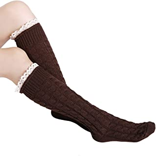Invierno Calcetines Largos de Lana Engrosamiento Calientes Rodilla Calcetines
