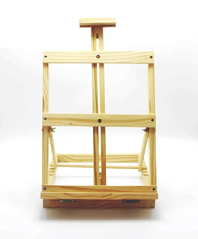 モック混合提出する塗装イーゼル デスクトップデスクトップミニ絵画フレーム木製の木製の折り畳み油絵松林絵画スケッチスケッチ