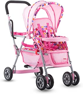 Joovy Toy Caboose, Doll Stroller, Doll Accessory, Pink Dot