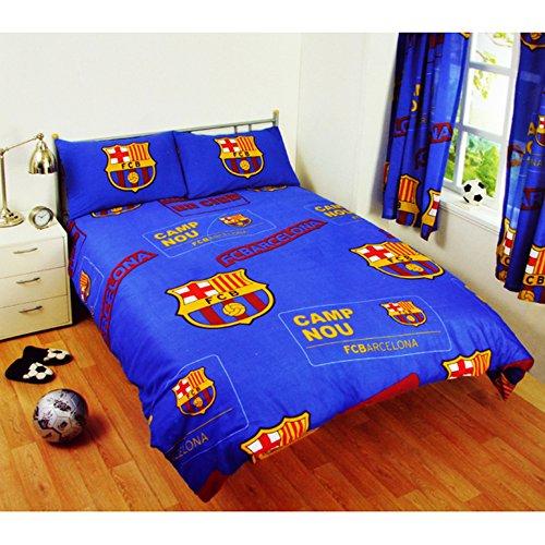 FC Barcelona - Housse de couette et taie d'oreiller-doublé - Bleu