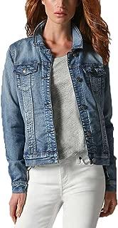 Buffalo Ladies' Knit Denim Jacket (Blue,Medium)