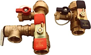 Watts 3/4-LFTWH-FT-HCN-RV Tankless Water Heater Service Valve Kit, with Pressure Relief Valve