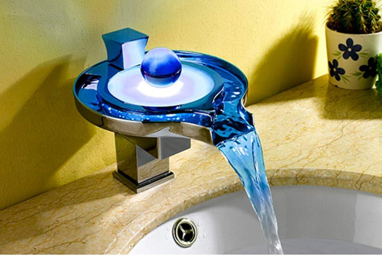 Bad Wasserhahn Bad Becken Wasserhahn Led Leuchtende Farbe Mode Kreative Kupfer Wasserhahn Bad Heien Und Kalten Wasser Mischer