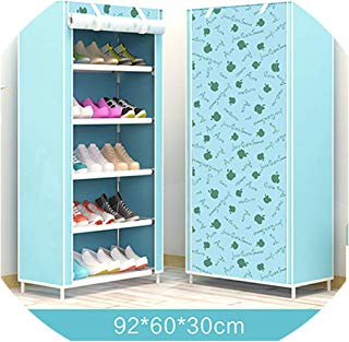 Maple Leaf Candy Color Shoe Racks Cabinet Shoes Rack Space Saver Boot Organizer Shelf Home Furniture DIY Assembly Non-Woven,Hh342200Cs4