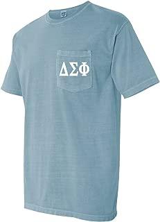 Delta Sigma Phi Fraternity Comfort Colors Pocket T-Shirt