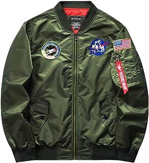 DYYLZYJ Men's Lightweight Flight Bomber Jacket Zipper Windbreaker Slim Fit Blazer Outdoor Coat