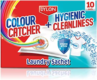 Dylon Colour Catcher + Hygienic Cleanliness 2 in 1, Ultimate Action Pads - 10 Pads