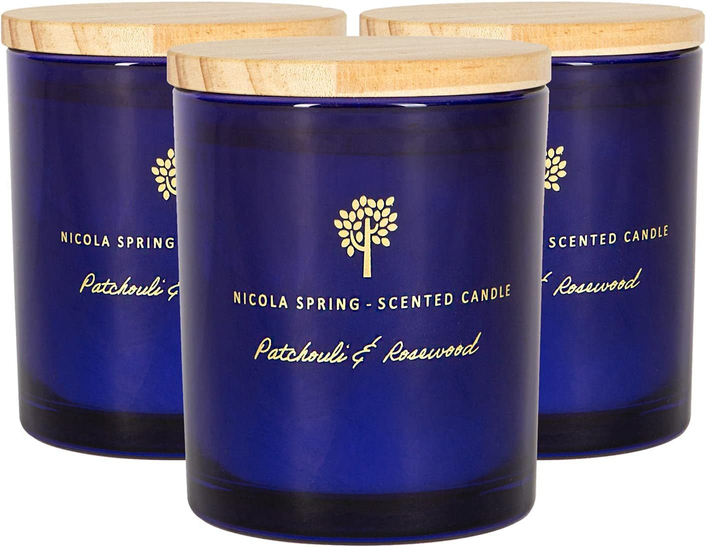 Nicola Spring Soy Wax Scented Gift - Glass Candles Aromatherapy Large special price !! New color