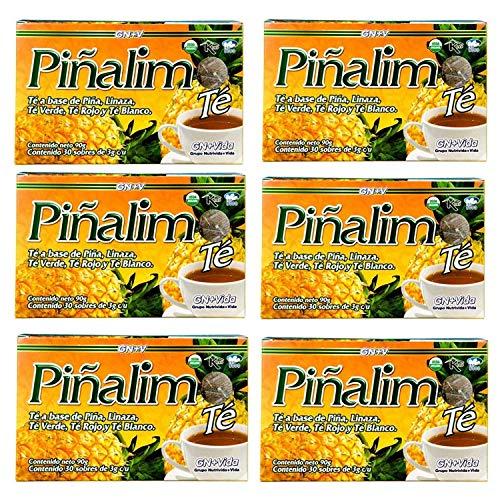 6 Boxes Te Pinalim Tea GN+Vida Weight Loss Tea Diet 180 Day Supply
