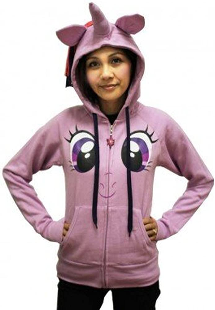 My Little Max 57% OFF Pony Twilight Sparkle Hoodi Costume Lilac It is very popular Face Juniors