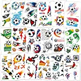 Konsait Football Tattoos Soccer Ball Tattoos Kids Children Temporary Transfer Tattoos Boys Birthday Party Bag & Stocking Fillers, 142PCS