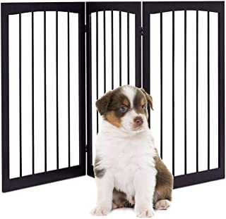 Barriera Per Cani Da C Cancello Di Legno Per Animali Con 3 Pannelli Regolabile