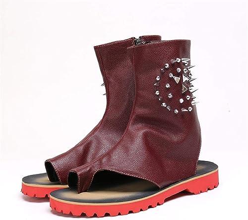 Mr.Zhang's Art Home Men's zapatos botas marróns Transpirables y Frescas, Sandalias Casuales.
