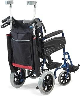 NRS Healthcare - Sillas de ruedas y accesorios para moto, bolsas y cestas, color negro y borgoña