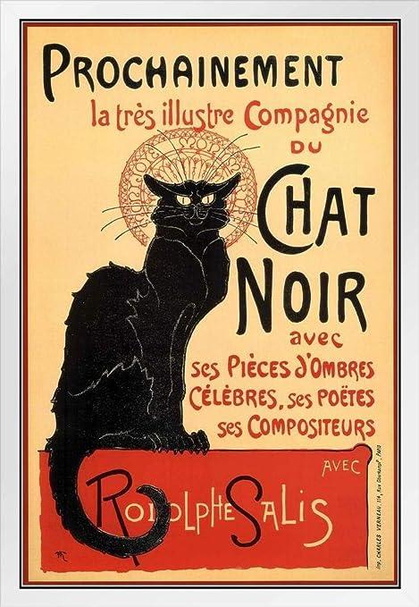 Buyartforless Chat Noir 20x16 Art Print Poster Black Cat French ...
