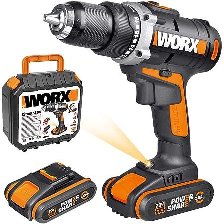 Akku-Schlagbohrschrauber Worx Starterset WX372.6 20 V Li inkl Akku und Ladegerä