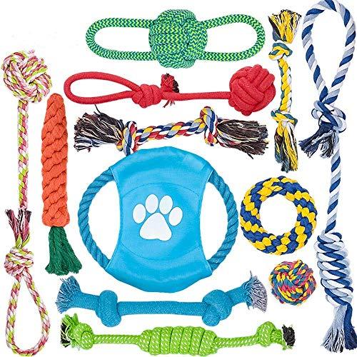 12 個 犬ロープおもちゃ 犬おもちゃ 犬用玩具 噛むおもちゃ ペット用 コットン ストレス解消 セット 丈夫 ...
