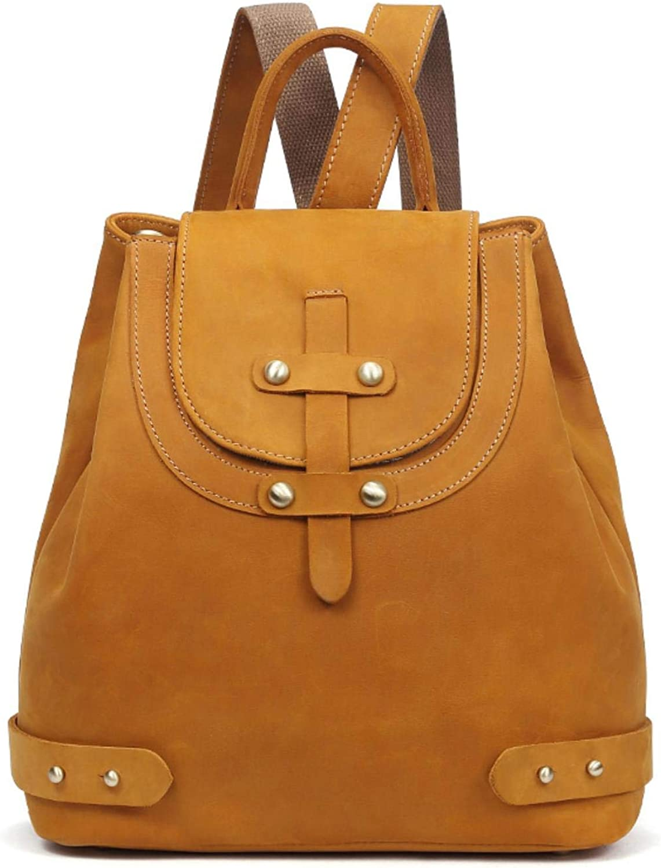 % Crazy Horse Cowhide Women Knapsack Rucksack Daypack handbags