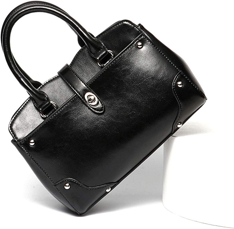 BAACHANG Damen Tasche Damen Handtasche Europa und Amerika Amerika Amerika Umhängetasche Tote Bag (Farbe   schwarz) B07LG5K5LR  Modernes Design c1fae6