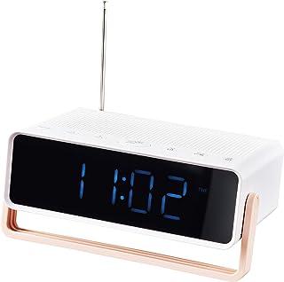 DÅNDIMPEN - Reloj despertador (16 x 5 cm), color blanco y rosa claro