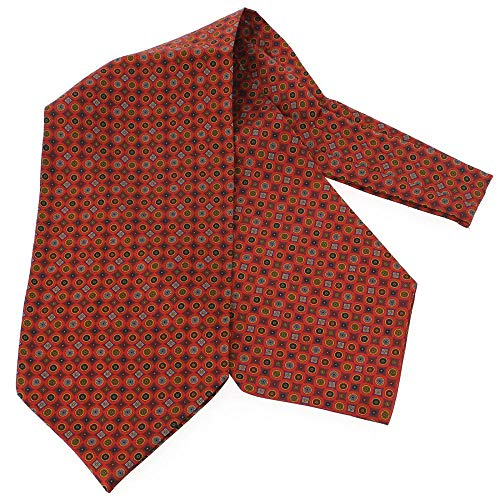 Tony & Paul - Charles Anatole, Foulard Ascot Soie, Victoria, Cercles Rouge Andrinople