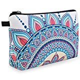 Cosmetic Bag, MAGEFY Makeup Bag Waterproof Cosmetic Pouch with Black Zipper Portable Travel Cosmetic Bag for Women Lightweight Beauty Makeup Pouch for Girls (1 pack, crown 0174)