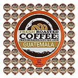 Fresh Roasted Coffee LLC, Guatemala Huehuetenango Coffee Pods, Medium Roast, 72 Count