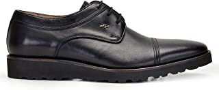 6ae33b1f664f0 2046-246 KEXL-Antik Siyah 201 Nevzat Onay Bağcıklı Siyah Günlük Deri Erkek  Ayakkabı