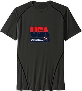 Men's Team USA Basketball Sport Quick Dry Short Sleeves T-Shirt