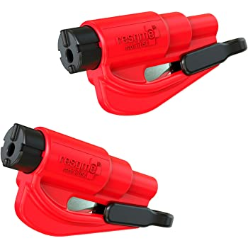 resqme The Original Keychain Car Escape Tool, Made in USA (Red) - Pack of 2, Two Pack