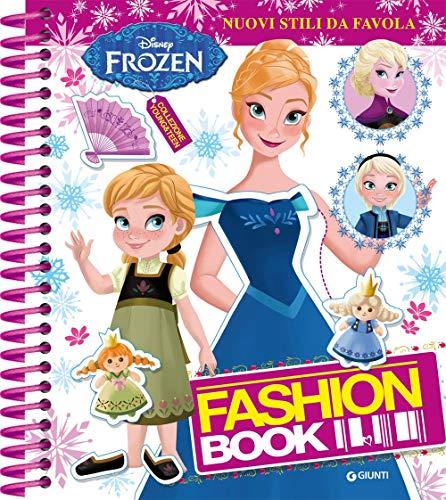 Fashion book. Nuovi stili da favola. Frozen. Con adesivi. Ediz. a colori. Ediz. a spirale