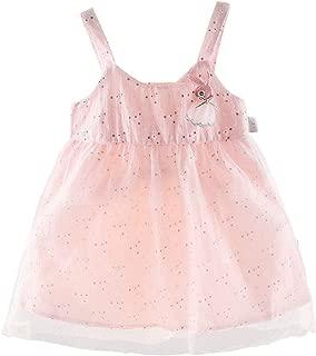Endand Summer Baby Girls Dress Sleeveless Rabbit Floral Printed Casual Strap Dress Cute Kids Toddler Princess Sundress