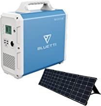 BLUETTI 120W ソーラーパネル 1500WH 大容量 純正弦波 ポータブル電源 太陽光発電 節電 車中泊 非常用停電 災害時 アウトドア キャンプ 熱中症対策 電動工具 テレワーク 扇風機/冷蔵庫/エアコンなどの夏用家電に対応可