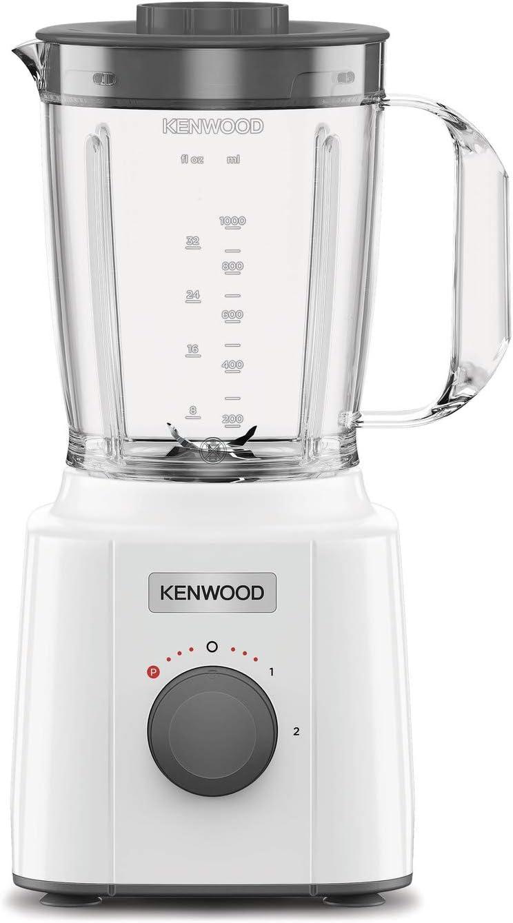 Kenwood BLP31.A0WH Batidora 350 W, 1,6 litros, plástico, acero inoxidable, blanco