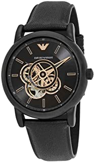 Emporio Armani Chronograph Automatic Black Dial Men's Watch AR60012