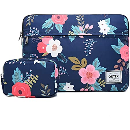 C COABALLA Dark Blue Colorful Botanical Items Graphic Laptop Sleeve Case Water-Resistant Protective Cover Portable Computer Carrying Bag Pouch for Laptop AM009127 15 inch//15.6 inch