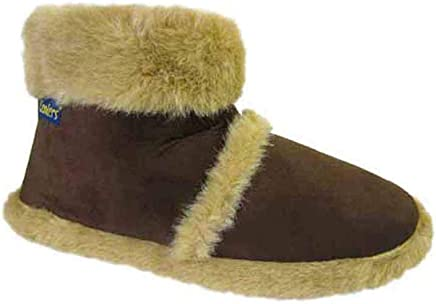 Size 7 Men's Ad3429 Coolers Dark Brown Warm Slip On Boot Style Slippers