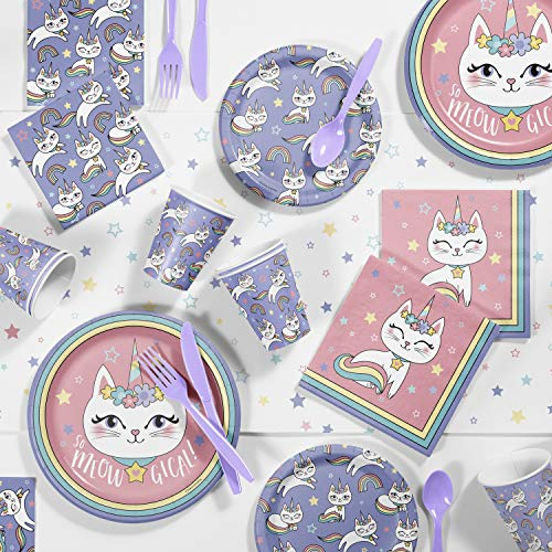Sale!! Caticorn Party Supplies Kit, Serves 8