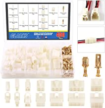 Glarks 400Pcs 6.3mm 1 2 3 4 6 8 9 Pin Electrical Automotive Wire Connector Male Female Socket Plug and Pin Header Crimp Wire Terminals Kit for Motorcycle, Bike, Car, Boats