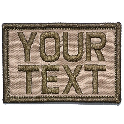 Customizable Text Patch - 2x3 Patch - Coyote Brown