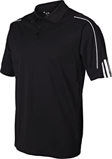 adidas Men's Climalite 3 Stripes Cuff Polo Shirt,...