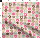 Donuts, Tipis, Dreiecke, Mintgrün Und Rosa Stoffe -