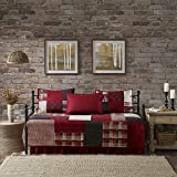 Woolrich Sunset 5 Piece Day Bed Cover Set Red Daybed
