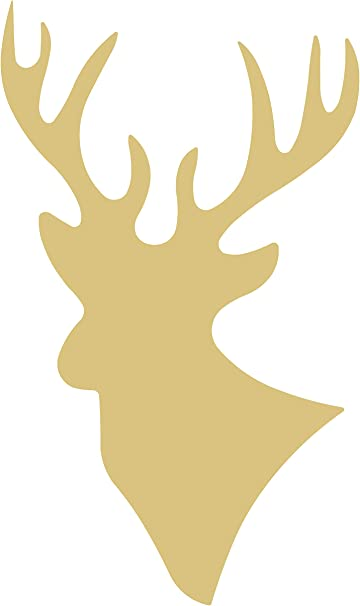 Deer Style 4 Unfinished Wood Shape Cutout Variety Sizes USA Made Forest Theme